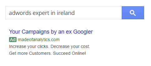 Google AdWords expert in Ireland