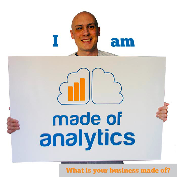 Digital Marketing consultant at Made of Analytics showing his logo